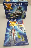 Saban's VR Troopers Ryan Steele Figur + Skyborg Jet Vehicle Vintage Kenner 1994