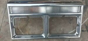 82-89 Chrysler Fifth Avenue Driver Left Headlight Bezel Trim w Signal Light