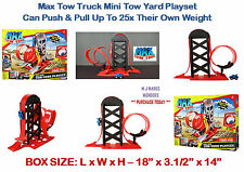 Max Tow Truck Mini Tow Yard Playset - Can Push & Pull Up To 25x Their Own Weight