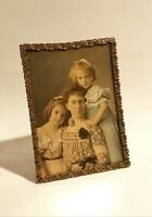 Antq Early 1900's Metal Picture Frame Marshall Fields & Co  Antique Family Photo