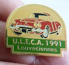 RARE PIN'S VOITURE CHEVROLET CORVETTE ULECA 1991 LOUVECIENNES