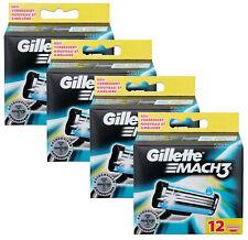 48er Gillette Mach3 Rasierklingen Set in 4x 12er OVP Klingen Pack Ersatzklingen