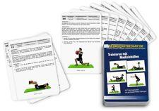 Trainingskarten - Medizinball Gewichtsball Fitnessball (30 Workouts)