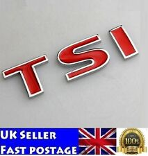 TSI Badge Emblem Decal Car Stickers Logo VW Golf JETTA PASSAT MK4 MK5 Volkswagen