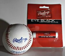 Rawlings Baseball Leather Cover Solid Cork 9 inch 5 Oz and Eye Black
