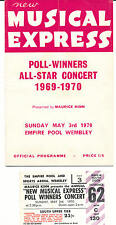 New Musical Express Poll-Winners All Star Concert 1969-1970 Programme and Ticket