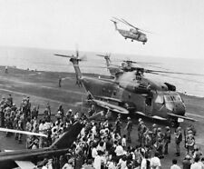 "Evacuees from the DAO Compound USS Midway 8""x 10"" Vietnam War Photo 131"