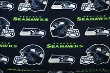 2-NFL SEATTLE SEAHAWKS PRINTED FLEECE STANDARD PILLOW CASES/ BLUE FLEECE BACK