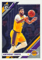 Anthony Davis 2019-20 NBA Donruss Optic Chrome Base Card #90 Los Angeles Lakers