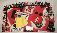 "Girls Baby Feet 25x22""Minnie Mouse 2-Sided Lark Knot Fleece Blanket Set w/Plushy"