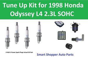 Cabin Air Filter, Air Oil Fuel Filter, PCV Spark Plug for 1998 Honda Odyssey L4