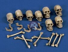 Verlinden 120mm - 150mm (1/16 - 1/12) Skulls and Bones (8pc each) [Diorama] 1473