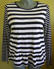 Ladies Womens Long Sleeve T Shirt Blouse Top Striped Emerson Size L 16-18 NWT