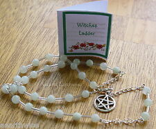1 x PREHNITE GEMSTONE WITCHES' LADDER  Wicca Pagan Witch Goth