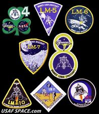 GRUMMAN LUNAR MODULE NASA APOLLO SET OF 8 AB EMBLEM SPACE PATCHES MINT