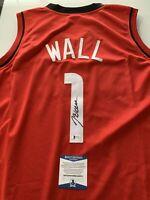 John Wall Autographed/Signed Jersey Beckett COA Houston Rockets