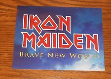 Iron Maiden Brave New World Sticker Decal Original Promo 5.5 x 4.25
