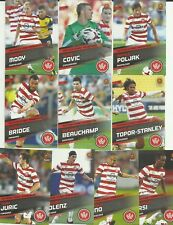 WESTERN SYDNEY WANDERERS 2013/14 A-LEAGUE SELECT COMMON TEAM SET 10 CARDS SOCCER