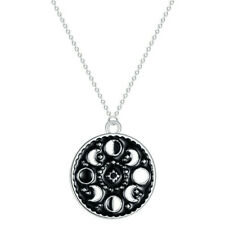 Luminous Enamel Moon Phase Pendant Necklace Galaxy Jewelry Moon Glow In The Dark