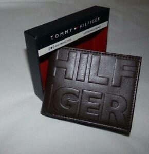 NIB MENS Tommy Hilfiger BI-Fold Wallet / Card Holder~BROWN