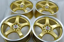17 gold Wheels Corolla Fusion Talon Civic Vibe ILX CL TL Soul 5x100 5x114.3 Rims