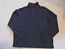 Men's - Polo Ralph Lauren - XL - Long Sleeve Polo - Navy/Red Pony - MSRP $165.00