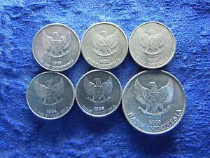 INDONESIA 25 RUPIAH 1991-1994, 1996AU KM55, 200 RUPIAH 2003 KM66 (6)