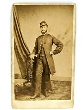 New listing Original Civil War CdV Union Artillery Officer Soldier Photo Uniform Antique Hat