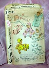"""Vtg 1950'S Simplicity Sewing Pattern 3218 For Baby 16"""" Doll Clothes -Wardrobe"""