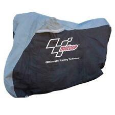 MotoGP Motorcycle Dust Cover Indoor Motorbike Protection Black Silver Medium