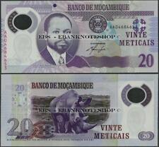 Mozambique, P149, 2011,20 mozambiqueños, UNC, Polímero-ebanknoteshop