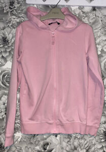 Girls Age 10-11 Years - Hooded Zip Up Sweater Top