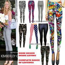 New Womens Ladies Comic Superman Batman Skull Boom Leggings Pants Size 8-24 5daf66954d58