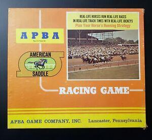 "Vintage APBA American Saddle Horse Racing Game 1974? ""SECRETARIAT"" Great Cond!"