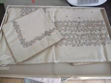 Nappe Zucchi 225 X 150 , 8 serviettes neuf