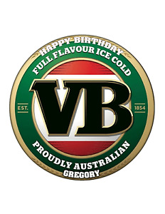 VB Circle cake Image Personalised Birthday Decoration Party Topper