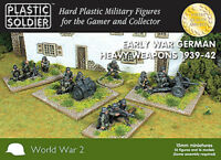 15mm Easy Assembly Early War German Heavy Weapons 1939-42 WW2015009 Unpainted