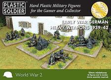 15mm Easy Assembly Early War German Heavy Weapons 1939-42 WW2015009 Unpainted