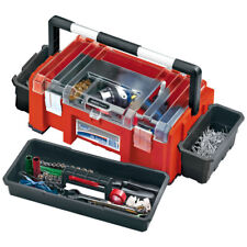 Draper Tools 38113 36 Litre Expert Tool Box with Side Organizers and Tote Tray