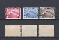 GERMAN REICH 1933 Zeppelin Chicago Mint * C43-C45 (Mi.496-498)