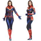 Captain Marvel Cosplay Jumpsuits Kids Womens Zentai Costumes Halloween Superhero