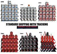 21pcs STAR WARS Clone Army Minifigures 501st Legion Trooper Lots Moc For Legos