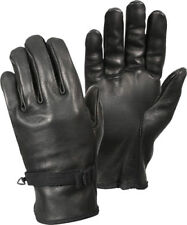 Black D-3A Type Military Genuine Leather Gloves