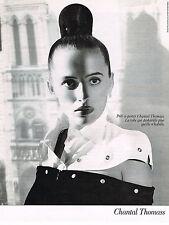 PUBLICITE ADVERTISING 025  1988  CHANTAL THOMAS mode pret à porter