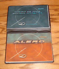 Original 2000 Oldsmobile Alero Owners Operators Manual First Edition 00