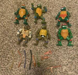 Playmates Toys Teenage Mutant Ninja Turtles Action Figure Lot with Accessories