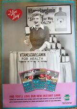 I Love Lucy PA. Lottery Poster, doing the TV Commercial(Vitameatavegamine)