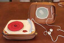 Rare French Teppaz Transit Lyon Vintage Record Player Speaker Portable Battery