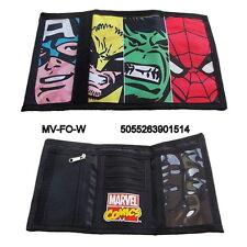 Marvel Comics Characters Collage Tri-Fold Vinyl Wallet, NEW UNUSED