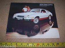 1978 Ford Pinto Vintage USA American Car Brochure Catalogue excellent condition